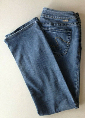Silver Jeans Women's Julia Mid Rise Boot Cut Denim Blue Jeans Size 31/30