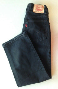 Levi's 550 Jeans Boys Size 10 Slim Cotton Relaxed Fit Black Jeans