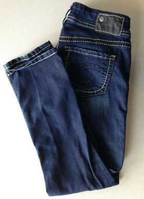 Silver Jeans Women's Dark Wash Low Rise Skinny Leg Denim Suki Capri Size W 26