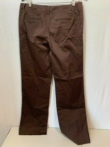 Tommy Hilfiger Women's Size 10 Cotton/Spandex Brown Straight Leg Chino Pants