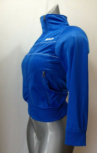 Bench Girls 9/10 Yrs Blue Long Sleeve Polyester Mock Full Zip Track Jacket