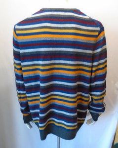 American Eagle Athletic Fit Multi-Color Striped Long Sleeve Men's Sweater Sz XXL