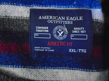 Load image into Gallery viewer, American Eagle Athletic Fit Multi-Color Striped Long Sleeve Men's Sweater Sz XXL