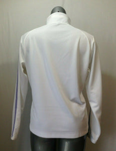 Nike Golf Women's XL Fit Dry White Long Sleeve Polyester 1/4 Zip Pullover