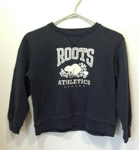 Load image into Gallery viewer, Roots Athletics Youth Size 8 Long Sleeve Blue Beaver Logo Crew Neck Sweatshirt