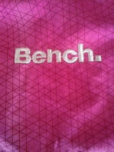 Bench BBQ Women's Pink Long Sleeve Full Zip Mock Neck Jacket Size Large
