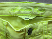 Load image into Gallery viewer, American Eagle Women's 2 Neon Yellow Stretch Cotton Blend Zipper Fly Jeggings