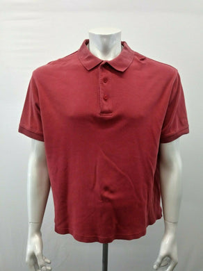 Eddie Bauer Men's Large Cotton Red Short Sleeve Golf Polo Shirt