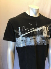 Load image into Gallery viewer, Bench Men's Black Graphic Short Sleeve Logo T-Shirt Size Large
