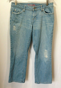American Eagle Women's Size 30 Distressed Low Rise Straight Leg Capri