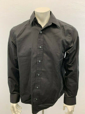 Eddie Bauer Classic Fit Shirt Men's Medium Black Cotton Long Sleeve Button Up