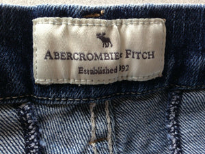 Abercrombie and Fitch Women's Size 2 Low Rise Zipper Fly Blue Jean Short Shorts