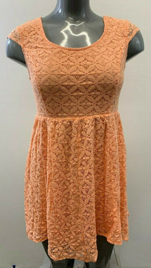 O'Neill Women's Size Large Peach Short Sleeve A Line Dress