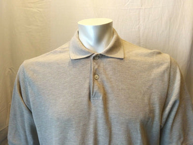 Eddie Bauer Beige Cotton Cuffed Short Sleeve Men's Casual Pique Polo Shirt Sz M