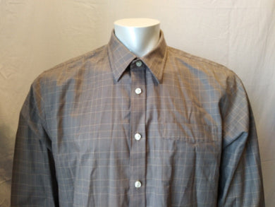 Eddie Bauer Wrinkle Resistant Classic Fit Plaid Button Down Men's Shirt Size TXL