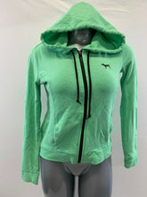 Load image into Gallery viewer, PINK Victoria's Secret Hoodie Womens XS Green Long Sleeve Full Zip Hooded Jacket