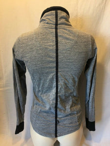 BENCH Women's Full Zip Long Sleeve Gray Spell Out Jacket Size XS