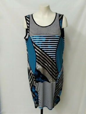 PICADILLY Women's XL multi coloured (brown/black/blues) dress