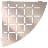 Stainless Steel Shower Shelf, Corner - Quadrant (Brushed Copper)