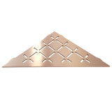 Stainless Steel Shower Shelf, Corner - Triangle (Brushed Copper)