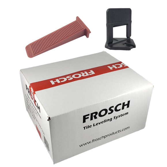 1//8 FROSCH Tile Leveling System Kit 3mm 250 Clips /& 100 Wedges