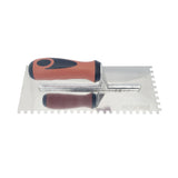 "Stainless Steel Square Notch Trowel - 1/4"" X 1/4"""