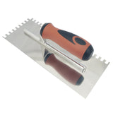 "Stainless Steel Square Notch Trowel - 1/4"" X 3/8"""