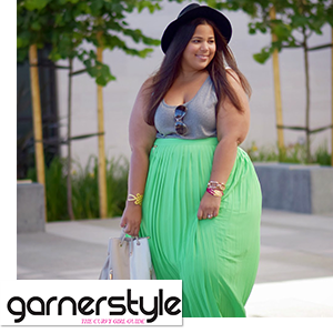 Plus Size Pleated Maxi Skirt worn by Chastity Garner