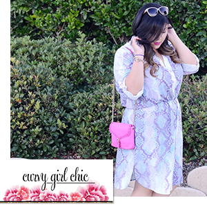 Plus Size Shirt Dress worn by Curvy Girl Chic