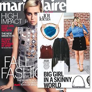 MYNT 1792 Plus Size Fringe Moto Jacket featured in Marie Claire