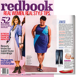 MYNT 1792 Plus Size Box Pleat Dress featured in Redbook Magazine