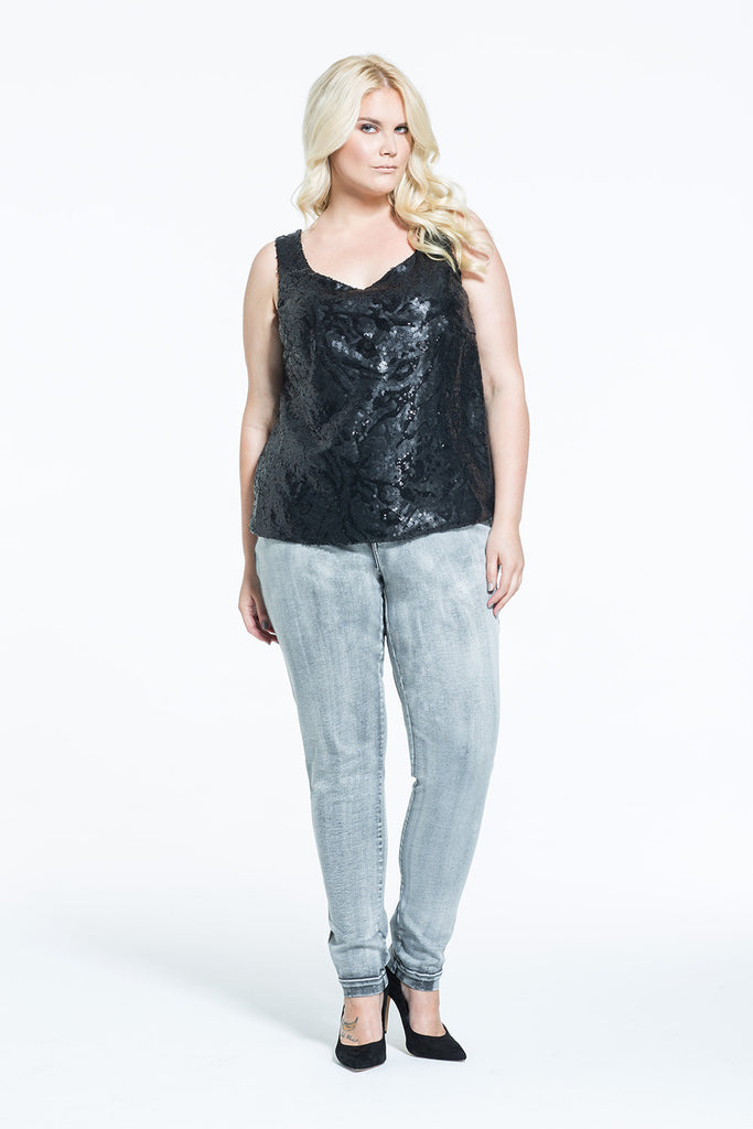 PLUS SIZE SEQUIN TANK