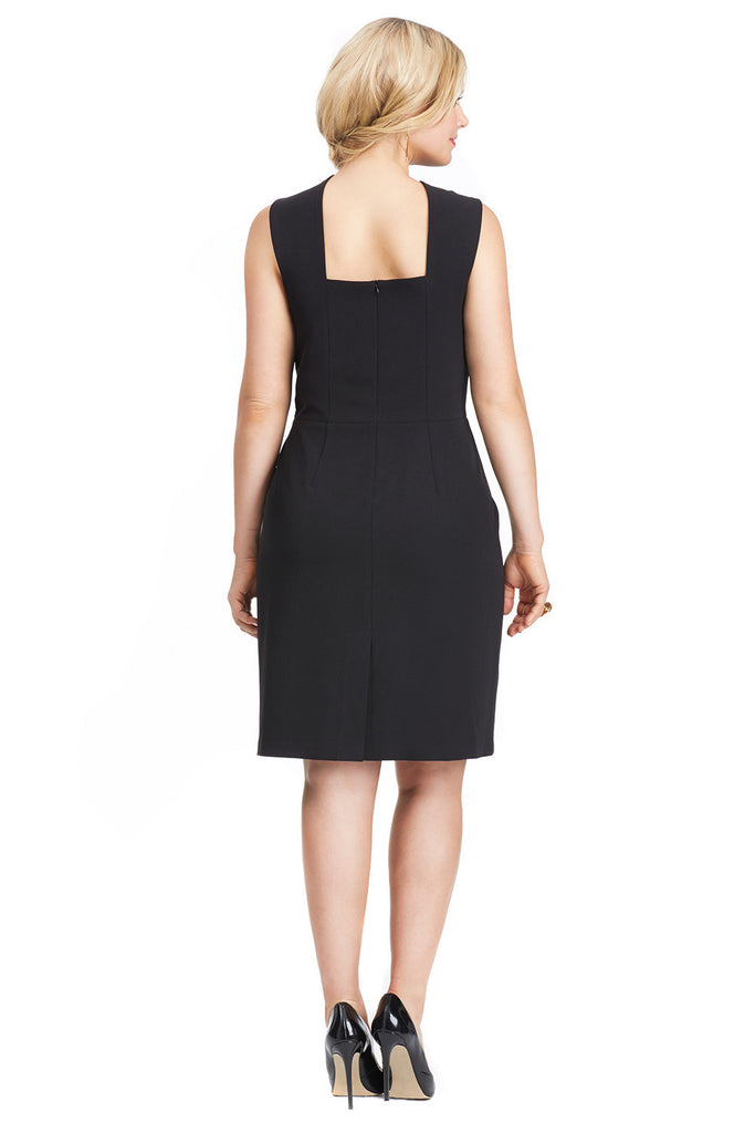 PLUS SIZE CURVY COCKTAIL DRESS IN BLACK