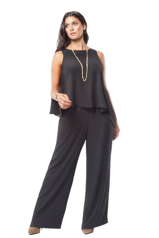 PLUS SIZE ASYMMETRICAL JUMPSUIT