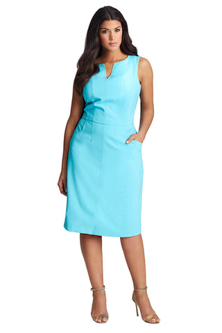 Plus Size Bright Blue Sheath Dress
