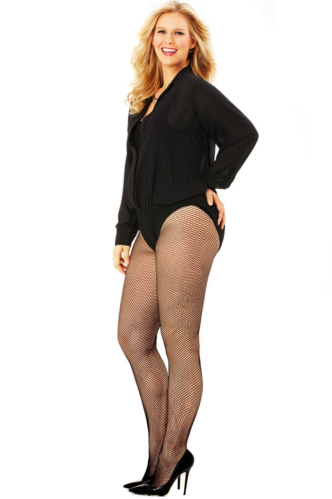 PLUS SIZE BLACK BODY SUIT