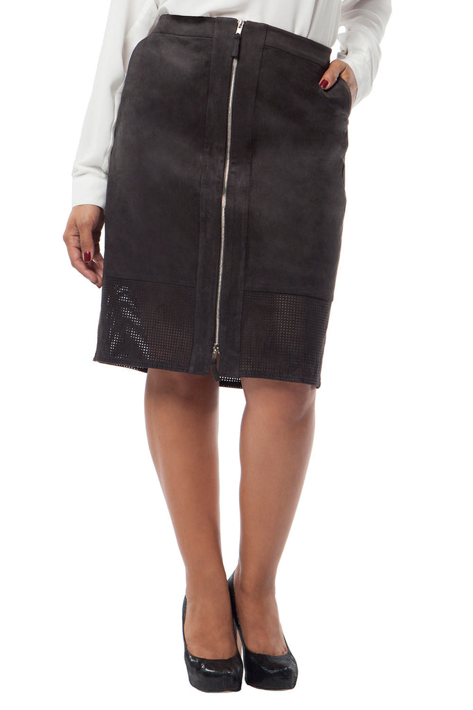 MYNT 1792 Perforated Pencil Skirt