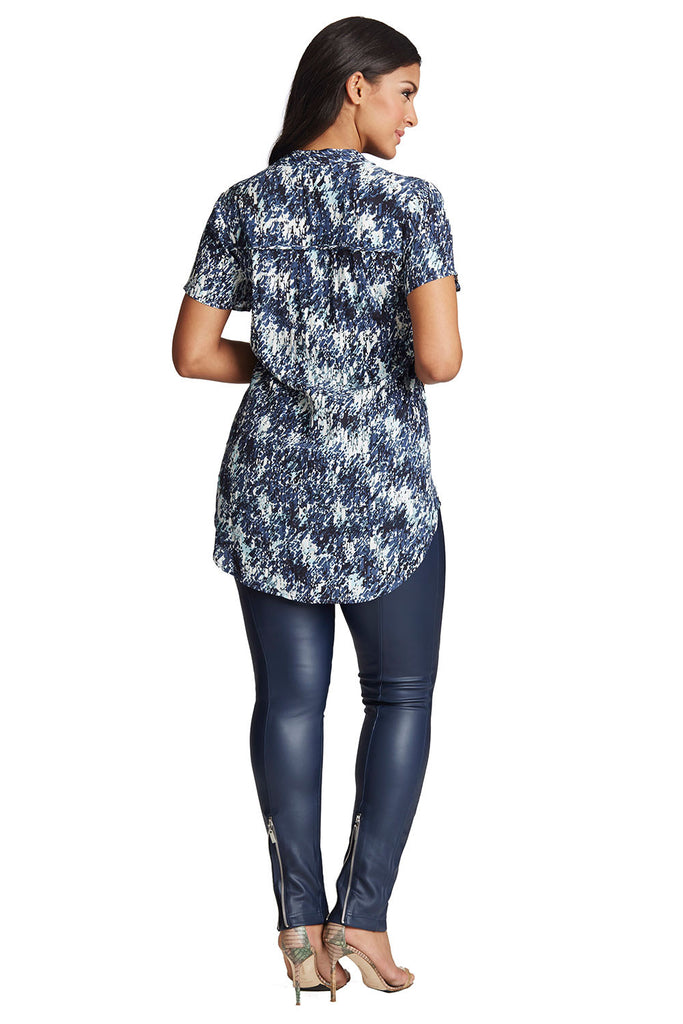 PLUS SIZE TUNIC IN RAINDROP PRINT