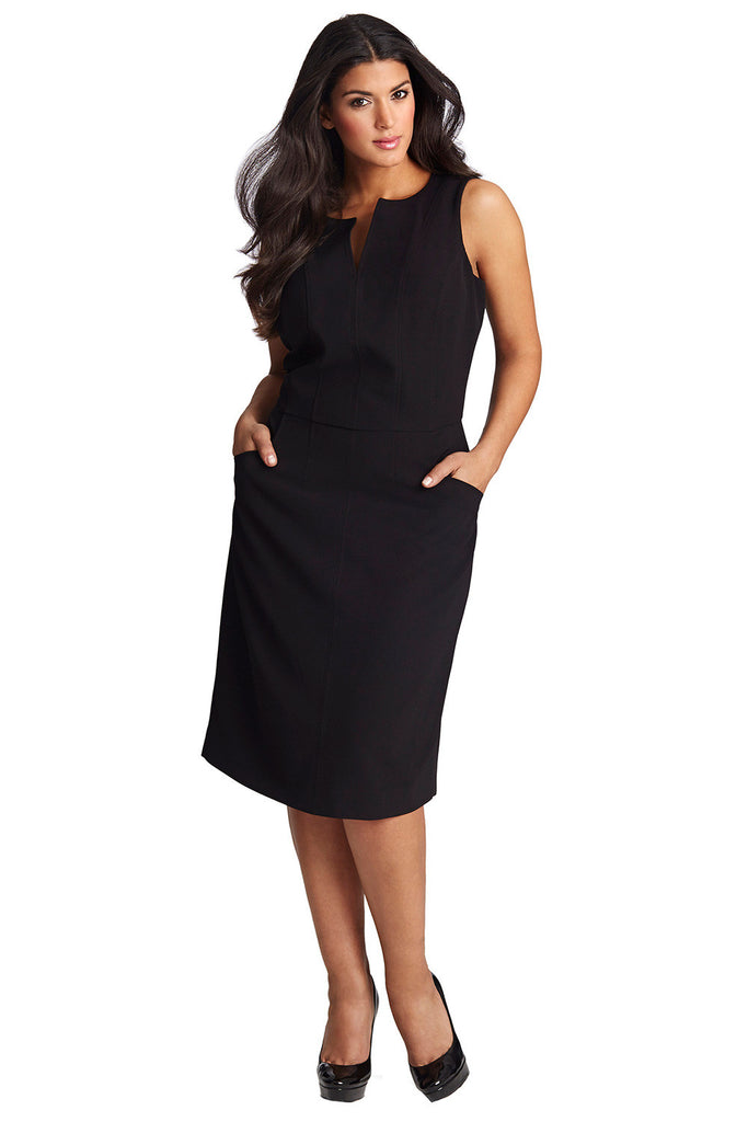Plus Size Black Sheath Dress