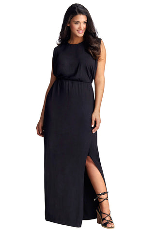 Curve Flattering Black Maxi Dress