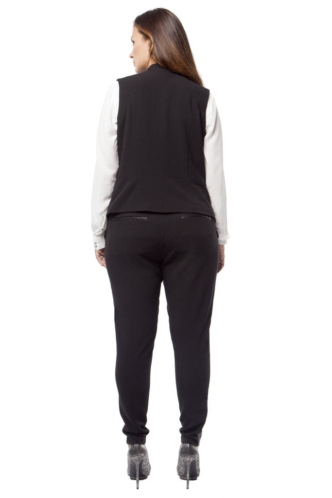 PLUS SIZE TUXEDO PANT IN BLACK