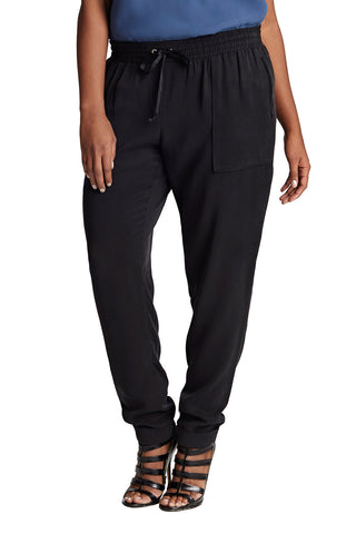 PLUS SIZE BLACK SLOUCH PANT