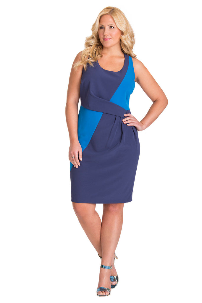 Plus Size Box Pleat Dress