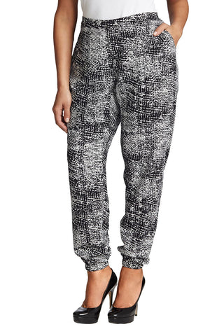 PLUS SIZE PRINTED SLOUCH PANT