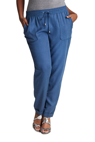 PLUS SIZE BLUE SLOUCH PANT