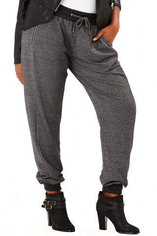 PLUS SIZE GREY JOGGER PANT