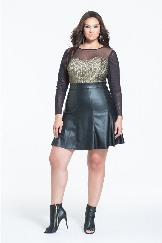 Plus Size Long Sleeve Dress