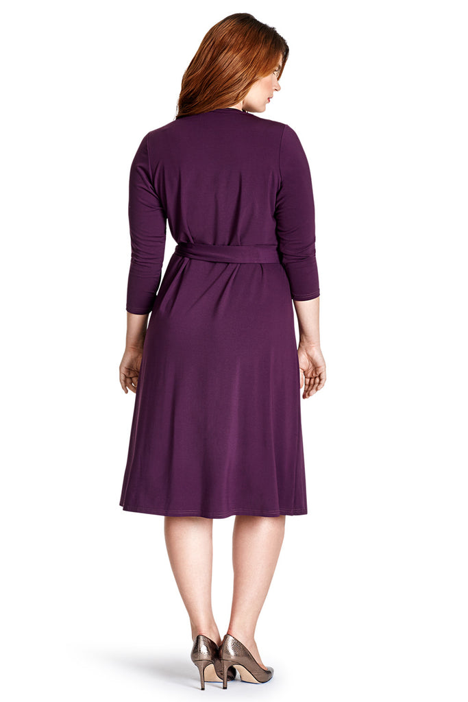 MYNT 1792 PLUM WRAP DRESS
