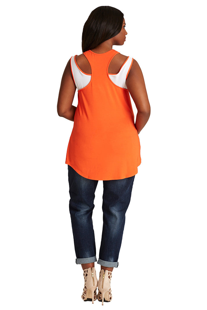 PLUS SIZE  ORANGE MODAL TANK