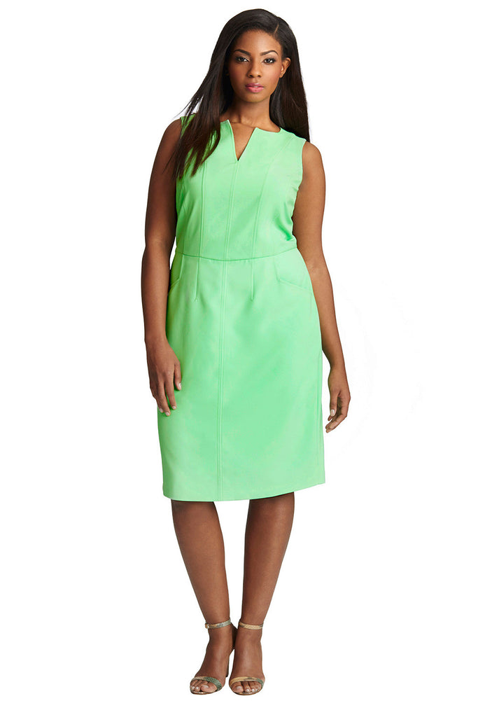 Plus Size Bright Green Sheath Dress